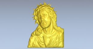Christ 3d model relief download 1499