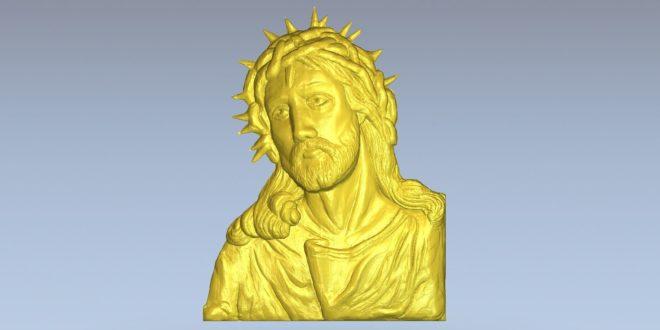 Christ 3d model relief download 1499