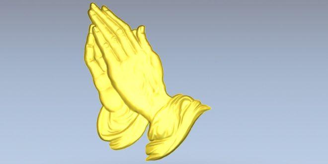 Hands Christ Relief stl artcam vcarve vectric 1502