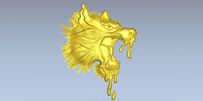 Free dragon stl download relief 1507