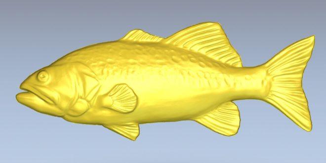 Free fish relief download stl model cnc file 1508