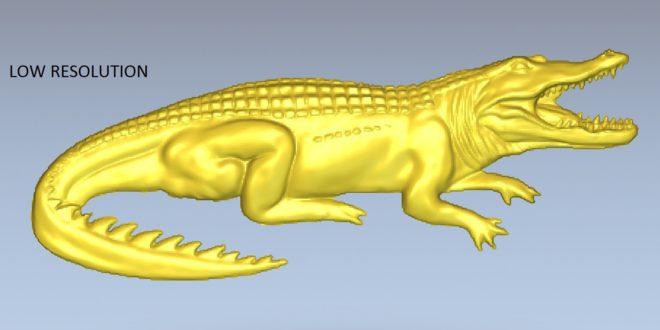 Free alligator crocodile relief 3d print cnc router 1509