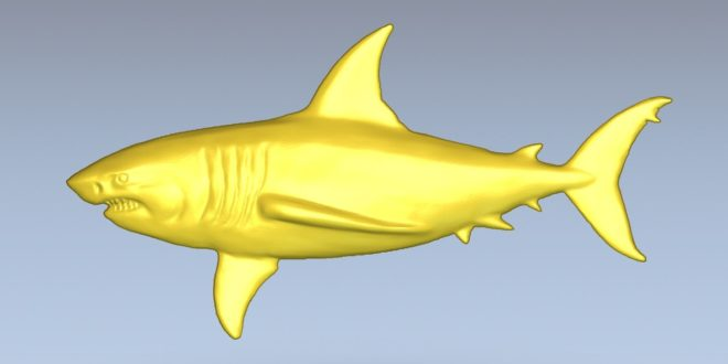 Shark 3d relief cnc model 3d vcarve aspire artcam 1510