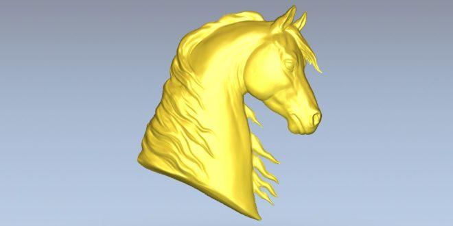 Horse head model relief cnc file download stl 1515