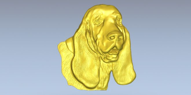 Dog head 3d relief model to cnc milling 3d print stl 1516