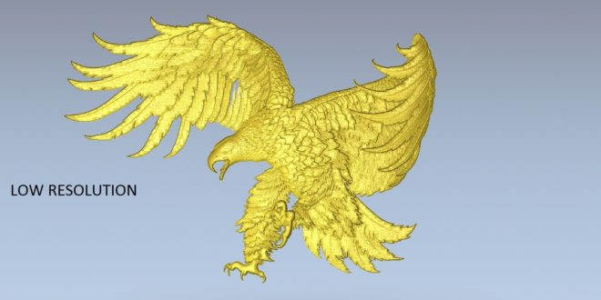 Free download animal eagle bird 3d relief stl 1518