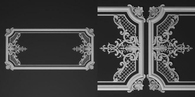 3D model stl picture frame mirror 1521
