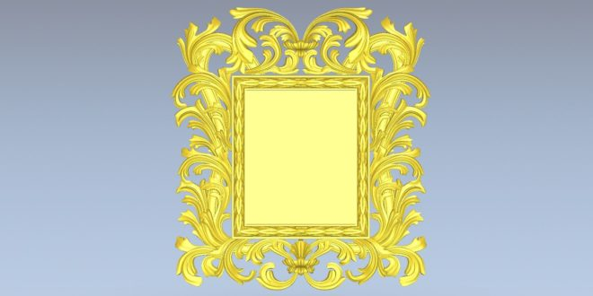 Picture model frame 3d mirror stl 1529
