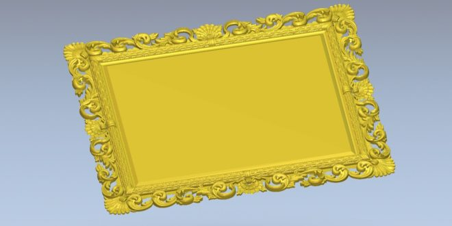Free low resolution model 3d mirror cnc file 1538