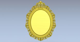 Decor oval mirror 3d file stl cnc make 1540