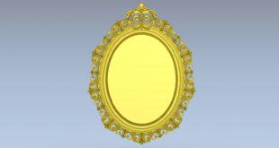 Decor oval mirror 3d file stl cnc make 1540