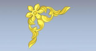Free element decor stl rose flower stl cnc file 1543