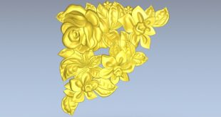 Roses and flowers 3d relief make cnc milling 3d print 1546