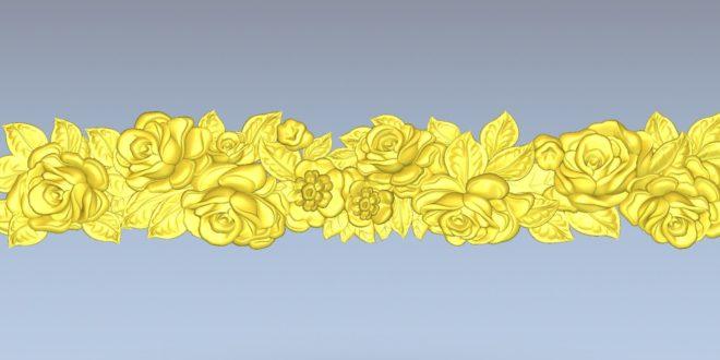 Roses and flowers 3d relief artcam vcarve vectric aspire cut 3d 1549