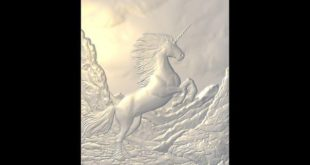 Free download relief Unicorn horse 3d artcam aspire stl 1565