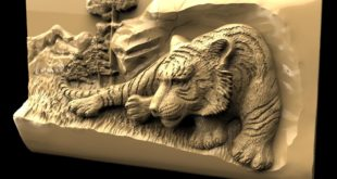 Tiger 3d relief model download cnc router 1567