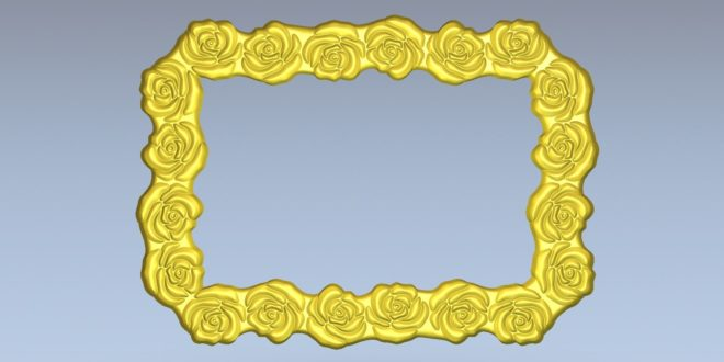 Free frame roses flowers photo mirror 1571