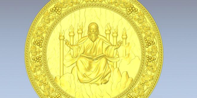 3D relief religious Christ the Savior stl model cnc 1572