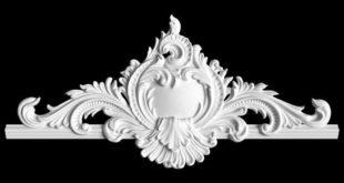 Free plaster model 3d element decor 1576