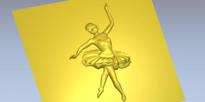 3D Relief ballet dancer ballerina cnc file 1578