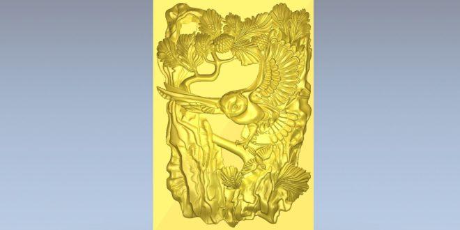 3D panel eagle owl download cnc file 1585