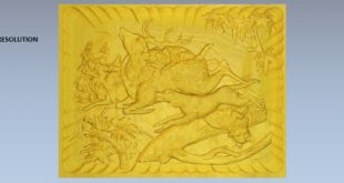 Free download 3d cnc relief carving files dog deer hunter 1587