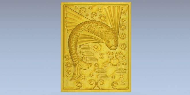 Free download fish board 3d cnc machine cad model stl 1588