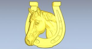 Horse horseshoe 3d relief download bas cnc cutting 3d model 1590