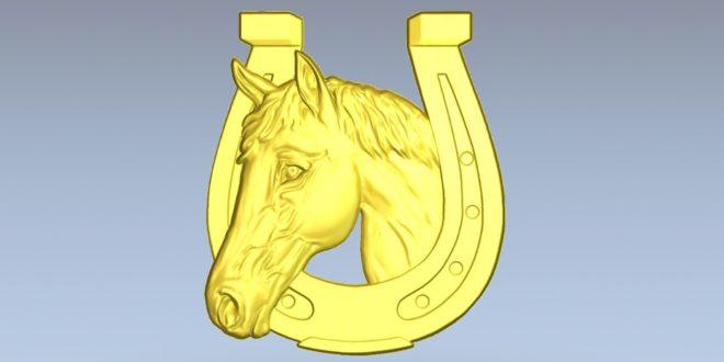 Horse horseshoe 3d relief download bas cnc cutting 3d model 1590