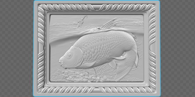 3d frame fishing fishery cnc cutting models stl 1593