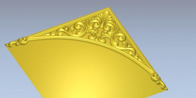 Free edge element decor cnc make wood cut 1595