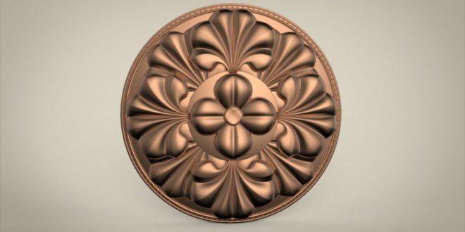 Mandala 3d relief cnc router file design 3d 1597