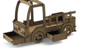 Cnc Cut File 15mm bed truck plywood mdf dxf cdr
