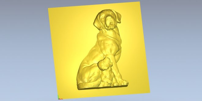 Free download relieg dog stl 1602
