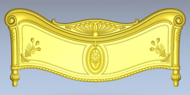 Bed Relief cnc carving 3d model file stl 1603