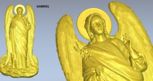 Gabriel angel 3d model cnc stl file 1605