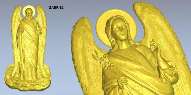 Gabriel angel 3d model cnc stl file 1605