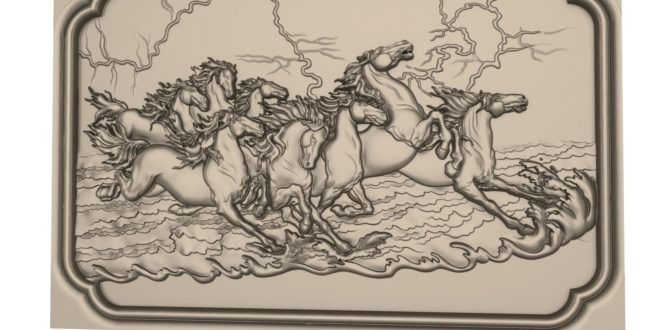Horse frame 3d relief artcam vectric aspire download 1639