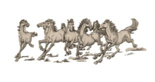 Horse relief vectric aspire stl file 1640