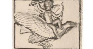 Relief cnc model cupid with stork stl 1643