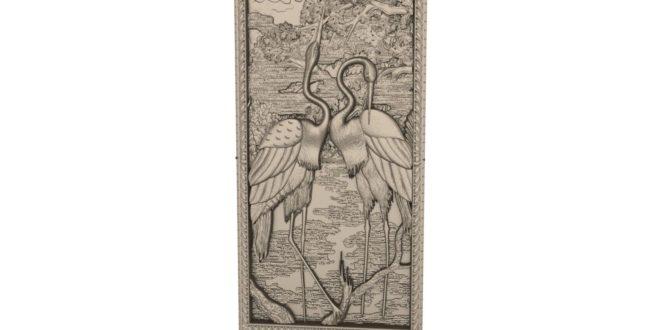 Flamingo animal relief to cnc machine 1648