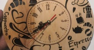 Free cnc cut file Kitchen's clock cdr dxf