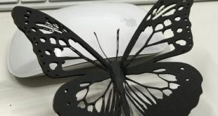Free vector laser cut miniature Butterfly