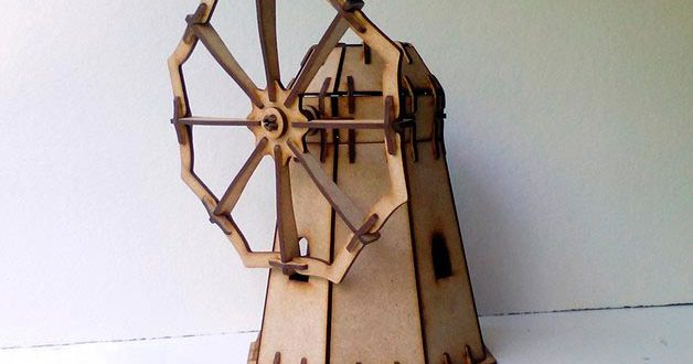 Free download Windmill Laser cut Layout
