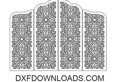 Free download cut file folding screen panel grid 4