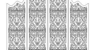 Free download cut file folding screen panel grid 6