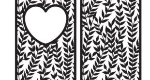Free vector 2d patterns panel floral heart grid