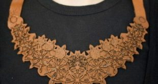 Free laser cut Leather Necklace file dxf