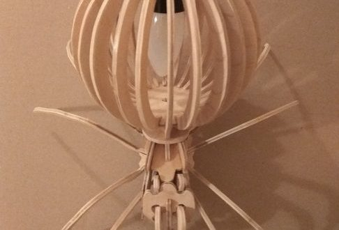 Free spider night lamp cnc file plan