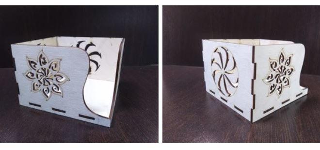 Free laser cut file vector cnc napkin holder